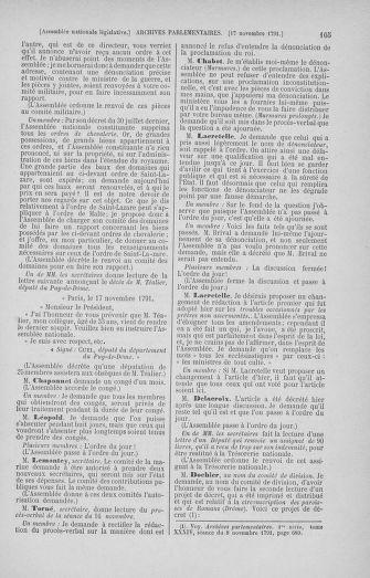 Tome 35 : Du 11 novembre au 10 décembre 1791 - page 105