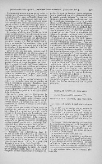 Tome 35 : Du 11 novembre au 10 décembre 1791 - page 127