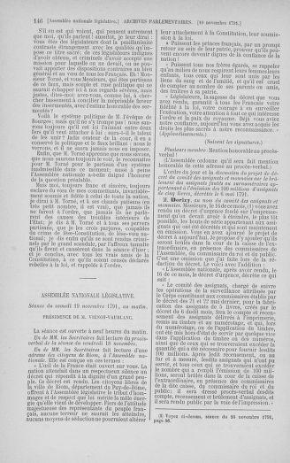 Tome 35 : Du 11 novembre au 10 décembre 1791 - page 146