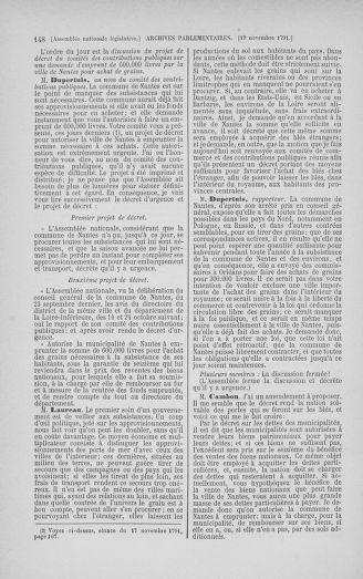 Tome 35 : Du 11 novembre au 10 décembre 1791 - page 148