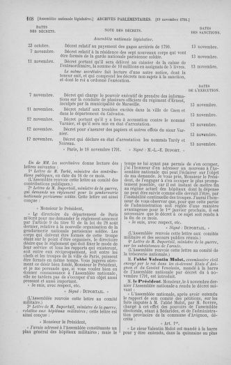 Tome 35 : Du 11 novembre au 10 décembre 1791 - page 168
