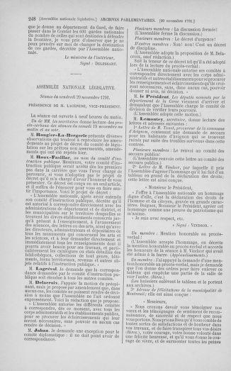 Tome 35 : Du 11 novembre au 10 décembre 1791 - page 248