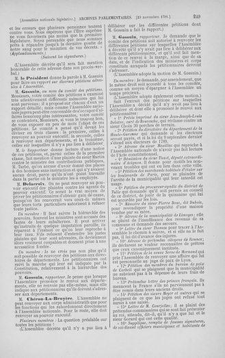 Tome 35 : Du 11 novembre au 10 décembre 1791 - page 249