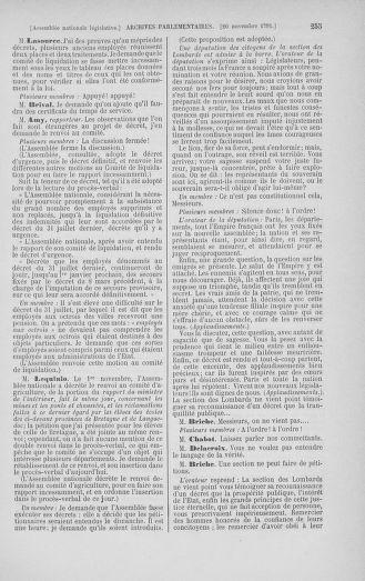 Tome 35 : Du 11 novembre au 10 décembre 1791 - page 255