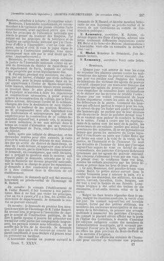 Tome 35 : Du 11 novembre au 10 décembre 1791 - page 257