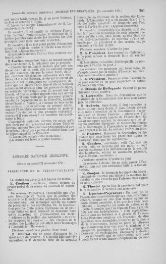 Tome 35 : Du 11 novembre au 10 décembre 1791 - page 263
