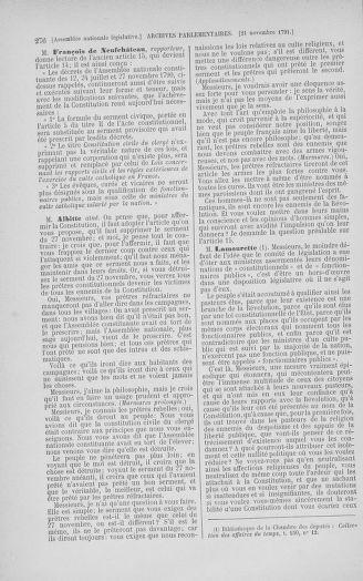 Tome 35 : Du 11 novembre au 10 décembre 1791 - page 276