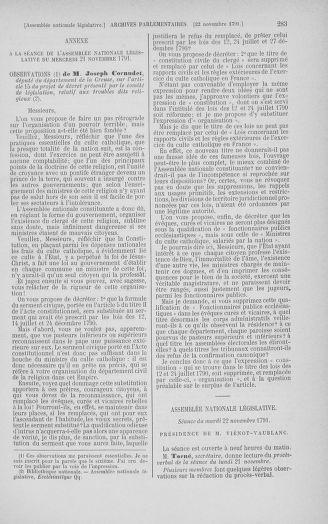 Tome 35 : Du 11 novembre au 10 décembre 1791 - page 283