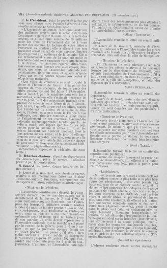 Tome 35 : Du 11 novembre au 10 décembre 1791 - page 284