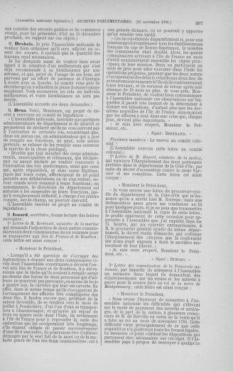Tome 35 : Du 11 novembre au 10 décembre 1791 - page 307