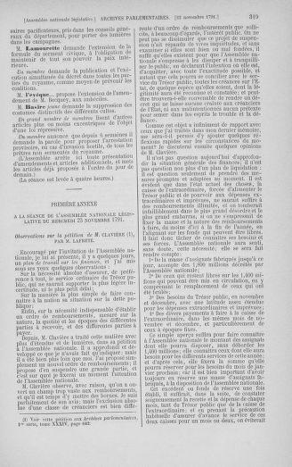 Tome 35 : Du 11 novembre au 10 décembre 1791 - page 319
