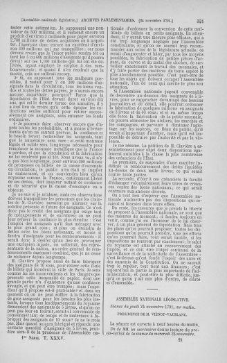 Tome 35 : Du 11 novembre au 10 décembre 1791 - page 321