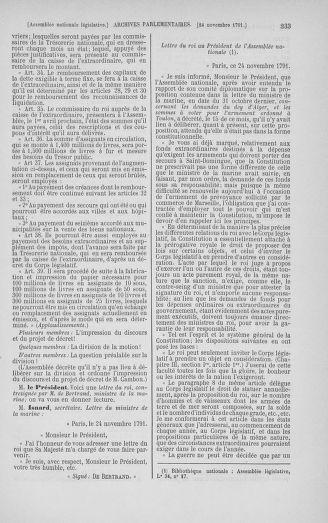 Tome 35 : Du 11 novembre au 10 décembre 1791 - page 333