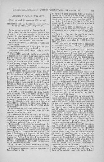 Tome 35 : Du 11 novembre au 10 décembre 1791 - page 345