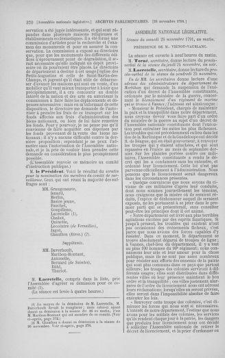Tome 35 : Du 11 novembre au 10 décembre 1791 - page 370