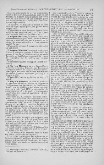 Tome 35 : Du 11 novembre au 10 décembre 1791 - page 381