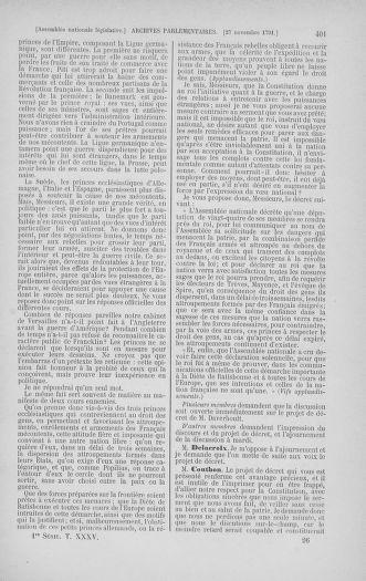 Tome 35 : Du 11 novembre au 10 décembre 1791 - page 401