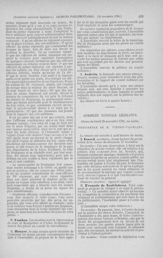 Tome 35 : Du 11 novembre au 10 décembre 1791 - page 405