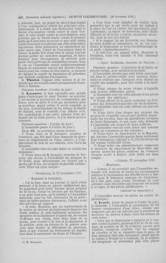 Tome 35 : Du 11 novembre au 10 décembre 1791 - page 406