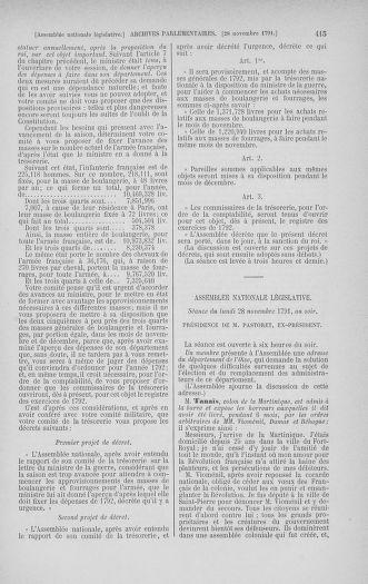 Tome 35 : Du 11 novembre au 10 décembre 1791 - page 415