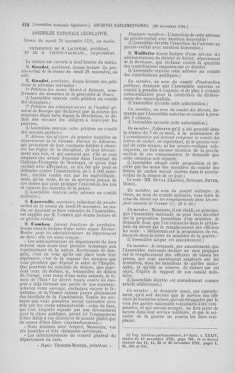 Tome 35 : Du 11 novembre au 10 décembre 1791 - page 424