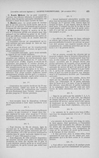 Tome 35 : Du 11 novembre au 10 décembre 1791 - page 425