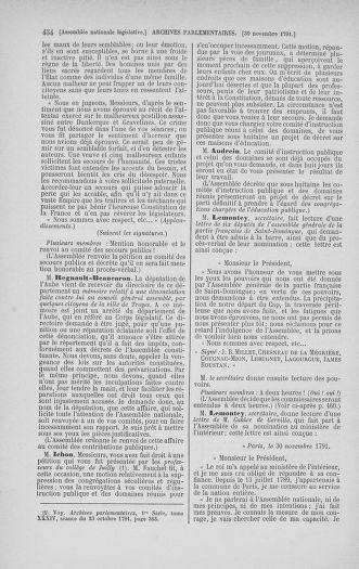 Tome 35 : Du 11 novembre au 10 décembre 1791 - page 454