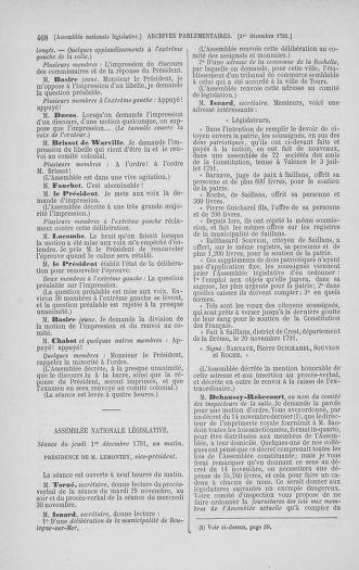 Tome 35 : Du 11 novembre au 10 décembre 1791 - page 468