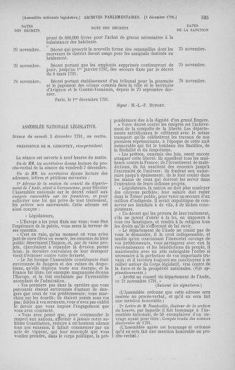 Tome 35 : Du 11 novembre au 10 décembre 1791 - page 525