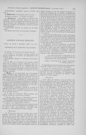 Tome 35 : Du 11 novembre au 10 décembre 1791 - page 591