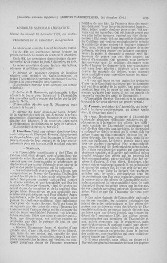 Tome 35 : Du 11 novembre au 10 décembre 1791 - page 695