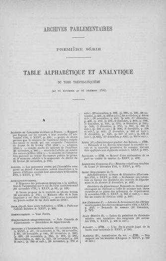 Tome 35 : Du 11 novembre au 10 décembre 1791 - page ..