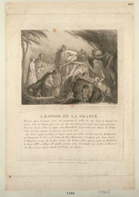 <em>L</em>' Espoir de la France Minerve près de Louis seize lui montrant le Sully de nos Jours et tenant son Egide dont la lumière fait voir au Roi la verité... : [estampe]