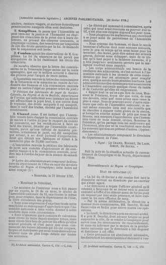 Tome 39 : Du 22 février au 14 mars 1792 - page 3