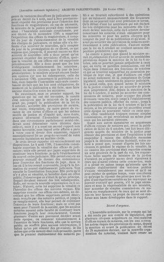 Tome 39 : Du 22 février au 14 mars 1792 - page 5