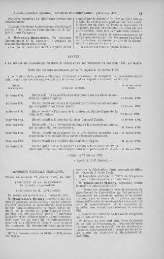Tome 39 : Du 22 février au 14 mars 1792 - page 61