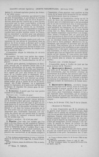 Tome 39 : Du 22 février au 14 mars 1792 - page 113