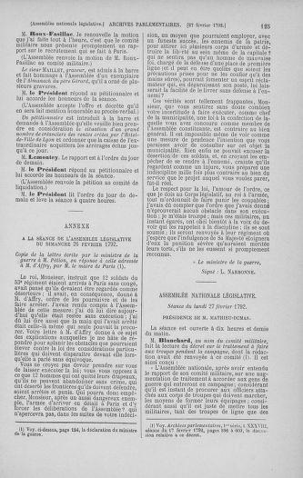 Tome 39 : Du 22 février au 14 mars 1792 - page 125