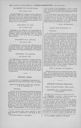 Tome 39 : Du 22 février au 14 mars 1792 - page 182