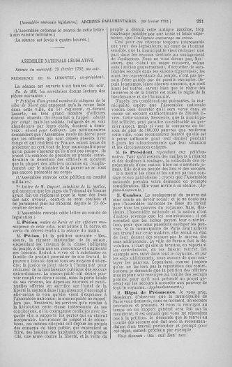Tome 39 : Du 22 février au 14 mars 1792 - page 221