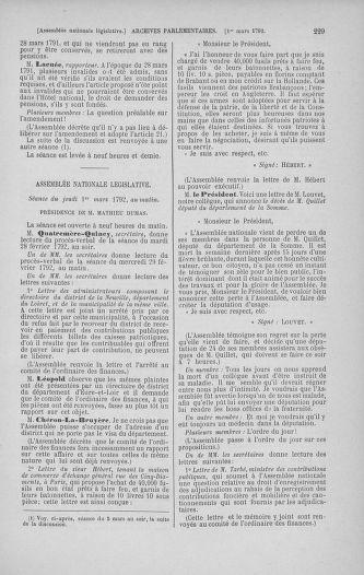 Tome 39 : Du 22 février au 14 mars 1792 - page 229