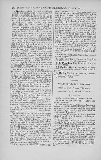 Tome 39 : Du 22 février au 14 mars 1792 - page 254