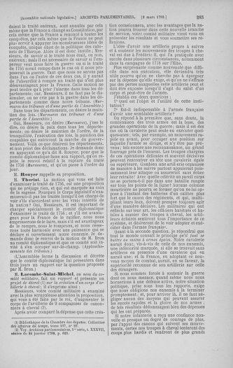 Tome 39 : Du 22 février au 14 mars 1792 - page 285