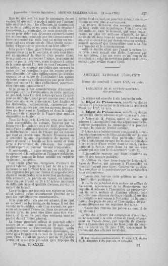 Tome 39 : Du 22 février au 14 mars 1792 - page 337