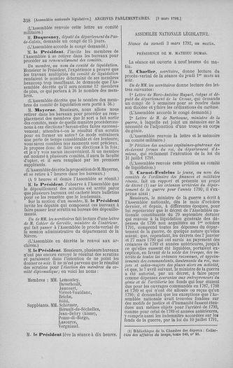 Tome 39 : Du 22 février au 14 mars 1792 - page 338