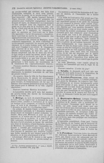 Tome 39 : Du 22 février au 14 mars 1792 - page 372