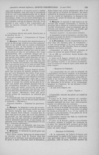 Tome 39 : Du 22 février au 14 mars 1792 - page 389