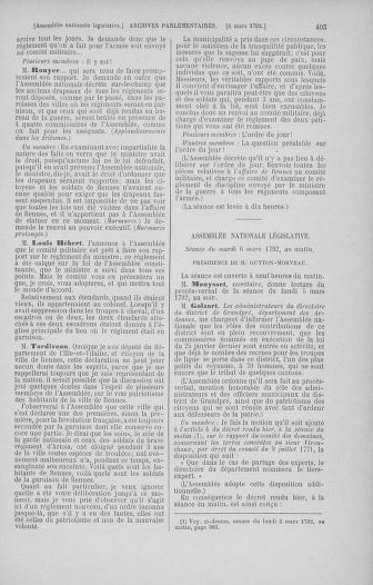 Tome 39 : Du 22 février au 14 mars 1792 - page 405