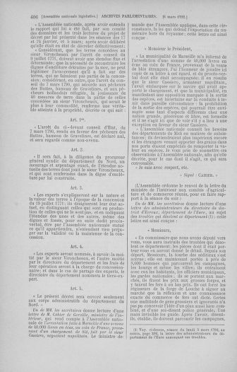 Tome 39 : Du 22 février au 14 mars 1792 - page 406