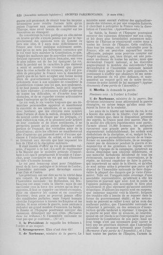 Tome 39 : Du 22 février au 14 mars 1792 - page 420
